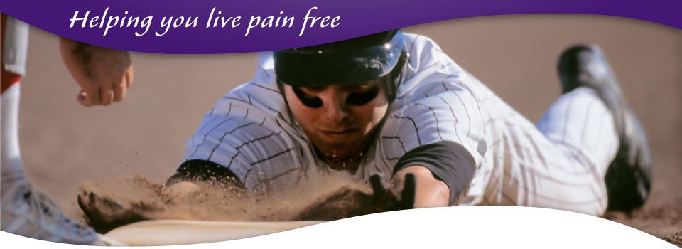 helping you live pain free - baseball player sliding into base