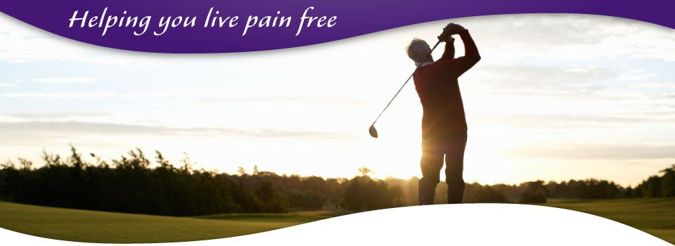 helping you live pain free - older man playing golf