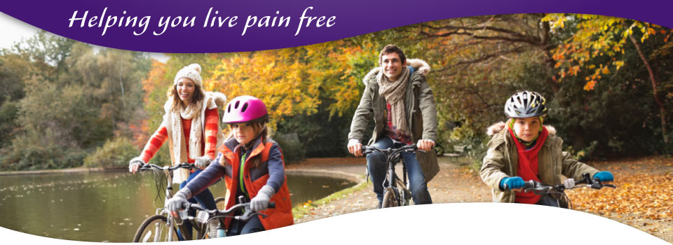 helping you live pain free - family riding bikes