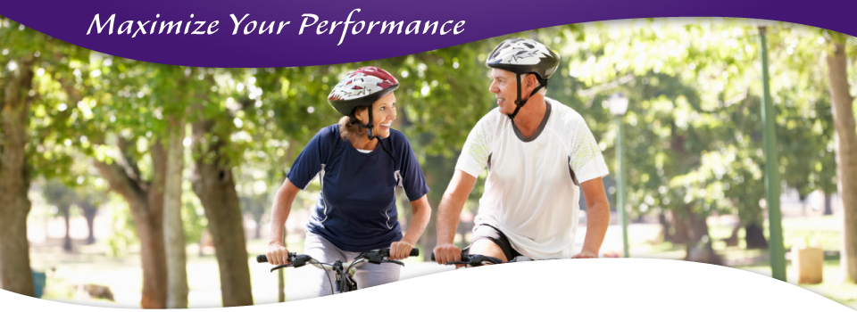 Maximize Your Performance - older couple riding bikes | chiropractor Victoria, BC